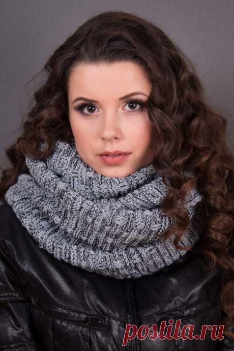 Как связать шарф-хомут: подробное описание и советы мастеров как своими руками связать шарф