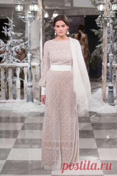 Длинное платье спицами схема. Ажурное длинное платье спицами схема   Домоводство для всей семьи.