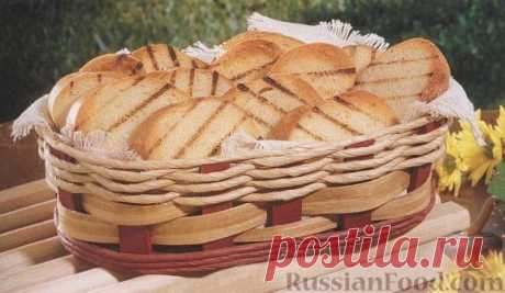 Рецепт: Чесночные гренки, приготовленные на гриле на RussianFood.com
