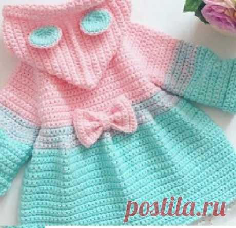 Tutorial on Crochet Hooded Jacket Girl - CRAFTS LOVED