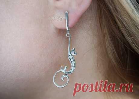 Серебряные серьги Китти - изящное и женственное украшение для любой модницы!