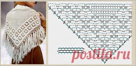 20 великолепных белых шалей связанных крючком с фотографиями и схемами - встретим зиму красиво | МНЕ ИНТЕРЕСНО | Яндекс Дзен