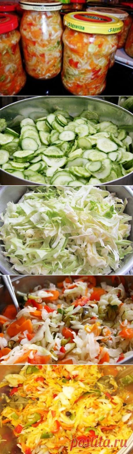Охотничий салат на зиму / Заготовка капусты / TVCook: пошаговые рецепты с фото