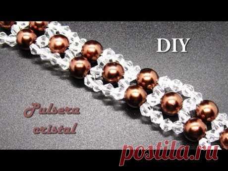 DIY - Muy facil -Pulsera de cristalitos swarouski Very easy - Swarouski crystallite bracelet