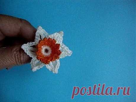 Нарцисс крючком. Видео-урок 47 Crochet and knitting..