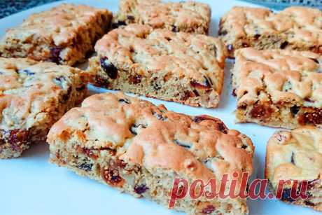 Вкусное и полезное печенье, которое готовится за 5 минут с орехами, изюмом и другими сухофруктами - Леди Зефирка