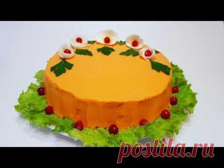 "ТОРТ - САЛАТ "" ОЛИВЬЕ ""  cake - salad ""оlivier"""