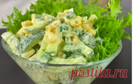 Интересный и вкусный весенний салат «Одесса»