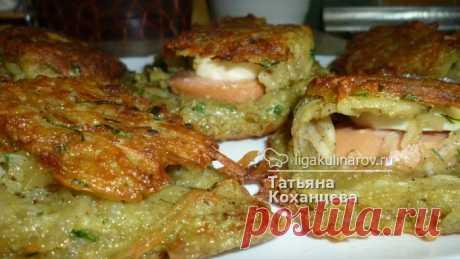 Картофельные ракушки с сосисками - рецепт с фото пошагово.