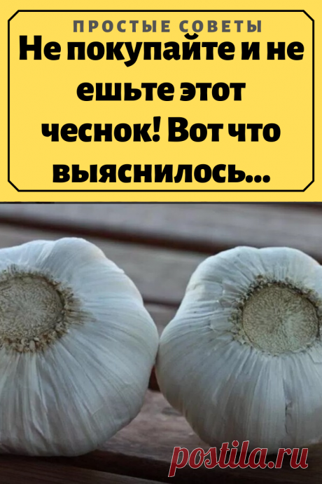Не покупайте и не ешьте этот чеснок! Вот что выяснилось…Казалось бы, зачем привозить из других стран то, что можно производить и выращивать в России? До сих пор многие не подозревают, что чеснок, который мы покупаем в супермаркете, в большинстве случаев привезен из Китая.