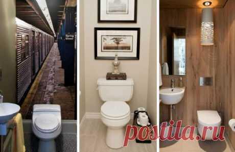 Как стильно оформить маленький санузел — Мой дом