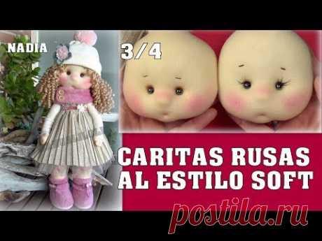 шитая голова MUÑECA NADIA, CARITA RUSA AL ESTILO SOFT, video - 436