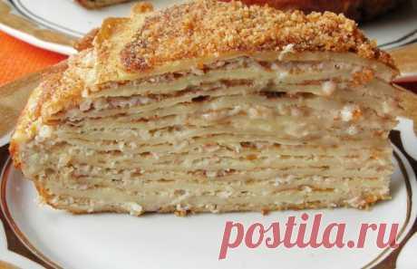 БЛИННЫЙ ЧЕСНОЧНЫЙ ТОРТ   Вкуснейший торт для закуски, вместо традиционных бутербродов. Его готовят в Венгрии. Просто и очень, очень вкусно!Ингредиенты Блины - 13-15 шт. Яйца – 6 шт. Ветчина – 300 г Сливки – 200 г Чеснок – 3…