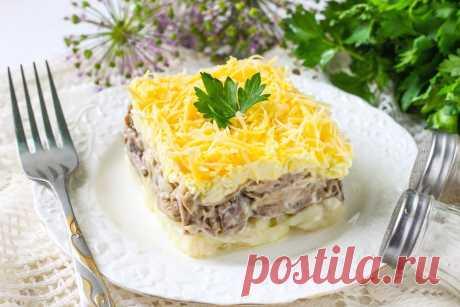 Салат Мужские грезы с говядиной рецепт с фото пошагово - 1000.menu