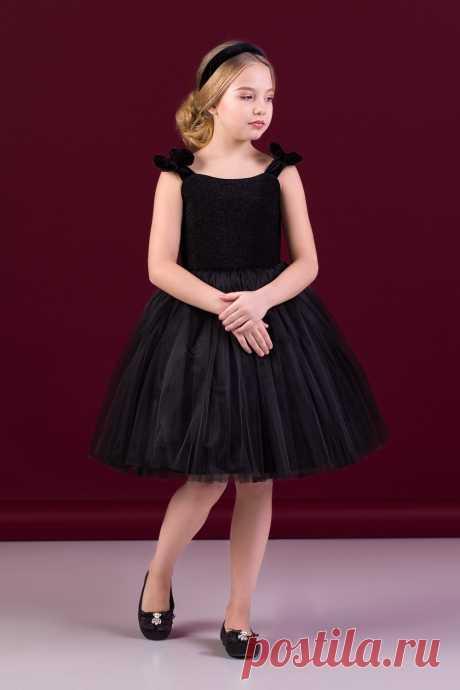 Платье черное для девочки Z2-38-9027-1