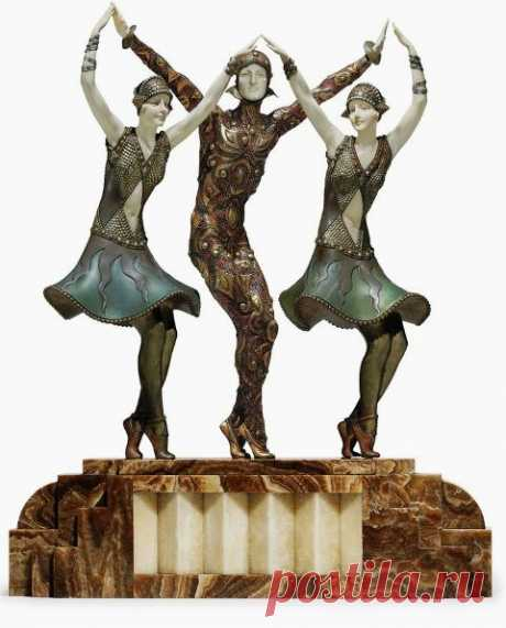 Demetr Chiparus - un gran escultor de la época De Ar-Deko