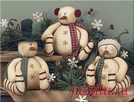 Примитивный домашний декор и подарки (куклы). Дизайнер Lisa Liffick