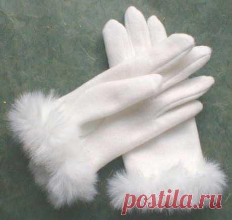 Хлопковые перчатки своими руками