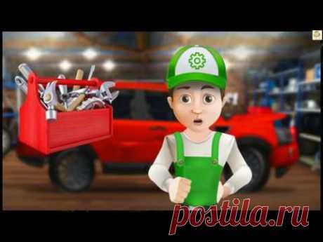 #Мультики про машинки. Винтик чинит Land Rover