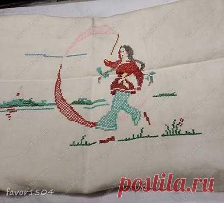 Вышивка с китайской скатерти   Страна Мастеров