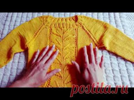 Children's sviterok a raglan from above with a sprout (the 4th part, final)