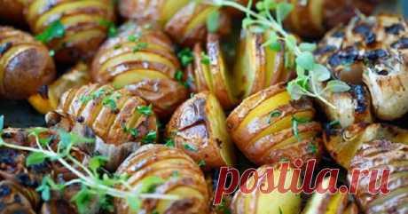 Картофель, запеченный с чесноком! Я даже от аромата этого блюда схожу с ума!