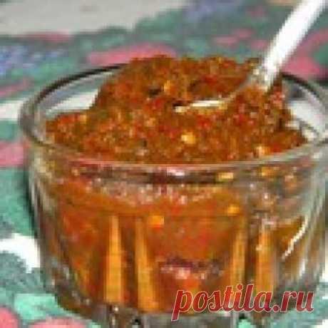 Настоящая абхазская аджика Кулинарный рецепт