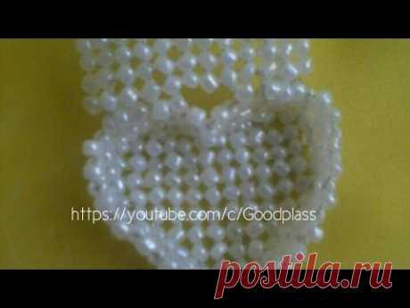 Casket heart from beads or beads. Beadwork