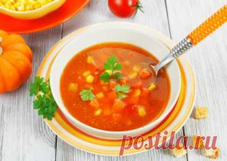 Рецепт тыквенного супа с кукурузой и томатами | ReRecept