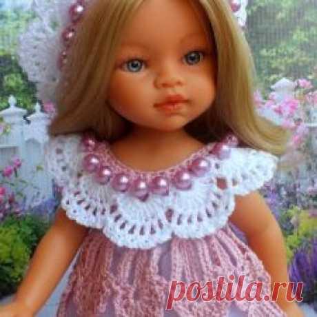 """Наряд  для  паолочек и хуаниток """" Перо  ангела """" - Бэйбики Комплект связан из хлопковой пряжи, цвет пыльная роза, состоит из: платья ( застегивается сзади на две маленькие пуговки ), подъюбника / 900р"""