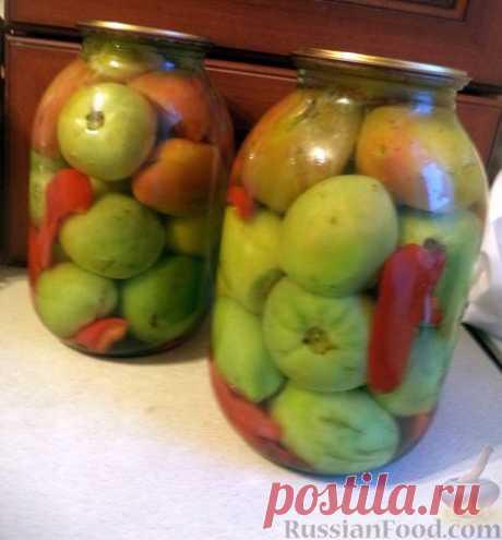 Рецепт: Помидоры зеленые закусочные (1 способ)