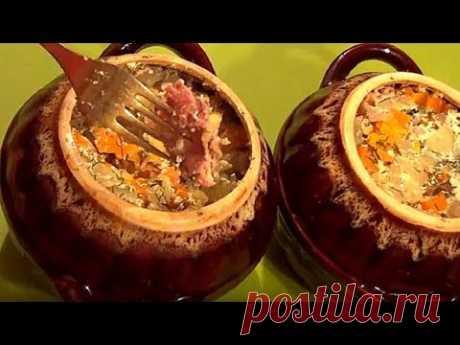 La cena sabrosa. El plato de carne en gorshochke. Para las amas perezosas y ocupadas.