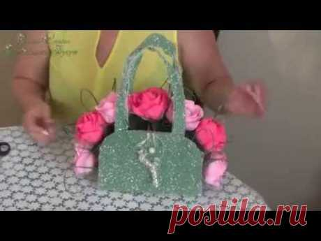Sweet gift (flowers with candies) ♥ the Handbag, Roza ♥ To order