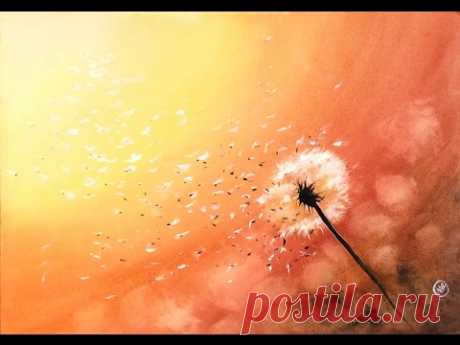Watercolor Dandelion Painting Demonstration - YouTube