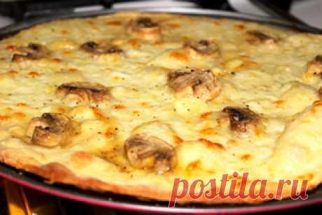 Хрустящее тесто для пиццы с овсяными хлопьями и без дрожжей. рецепт с фотографиями