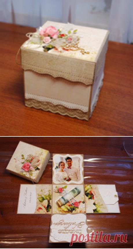 Коробочка для свадебного подарка. Моё.