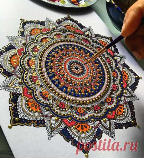 Intricate Mandalas Gilded with Gold by Artist Asmahan A. Mosleh   Colossal