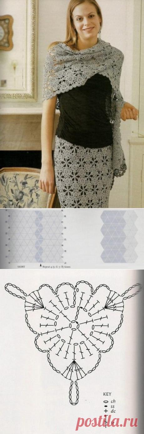 Вязаные накидки крючком. Вязанные юбки со схемами | Лаборатория домашнего хозяйства