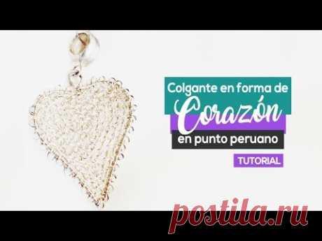 Colgantes con Forma de Corazón en Punto Peruano! 😍❤👌