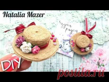 ПОСМОТРИТЕ ЧТО ПОЛУЧИЛОСЬ С КРЫШКИ ОТ БУТЫЛКИ/mini hat-hair clips/DIY NATALIA MAZER