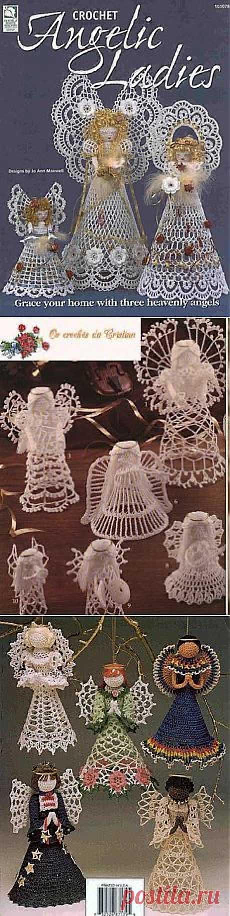 Вязаные крючком ангелочки. Crochet Angelic Ladies.