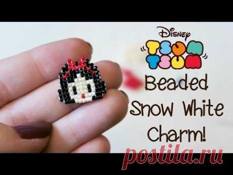 DIY Bead Tsum Tsum Snow White Charm // Bead Weaving // ¦ The Corner of Craft