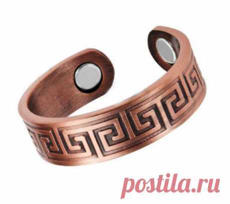 Медное магнитное кольцо Бьянка Медное кольцо с магнитами-790 р
