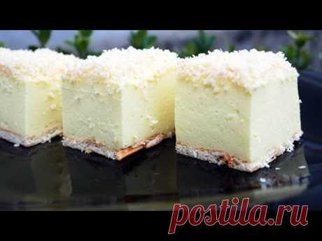 Изысканный зимний торт без выпечки «Снежный пух»