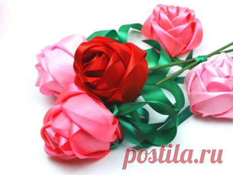 Мастер-класс смотреть онлайн: Шикарные розы из атласных лент | Журнал Ярмарки Мастеров Шикарные розы из атласных лент – бесплатный мастер-класс по теме: Do It Yourself / Сделай сам ✓Своими руками ✓Пошагово ✓С фото