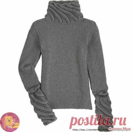 Элегантный свитер с высоким горлом — Сделай сам, идеи для творчества - DIY Ideas