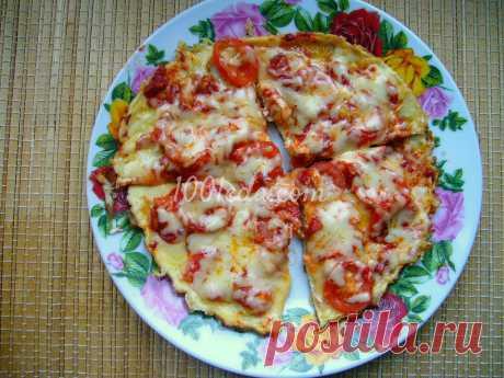 Диетическая пицца на сковороде  - Диетические рецепты от 1001 ЕДА
