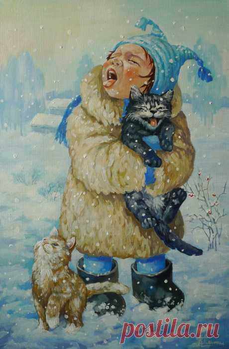 🎄 Айда ловить снежинки языком...❄
