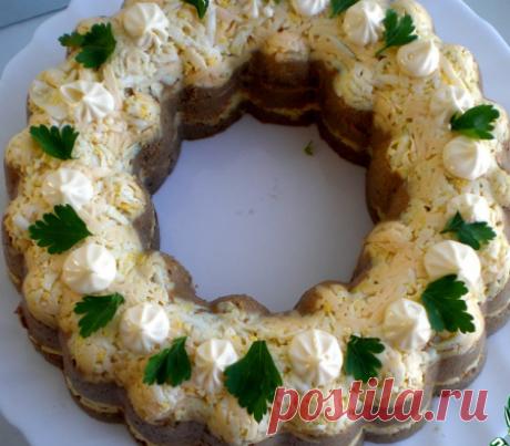 """Закусочный торт """"Фантазия"""" - Простые рецепты Овкусе.ру"""
