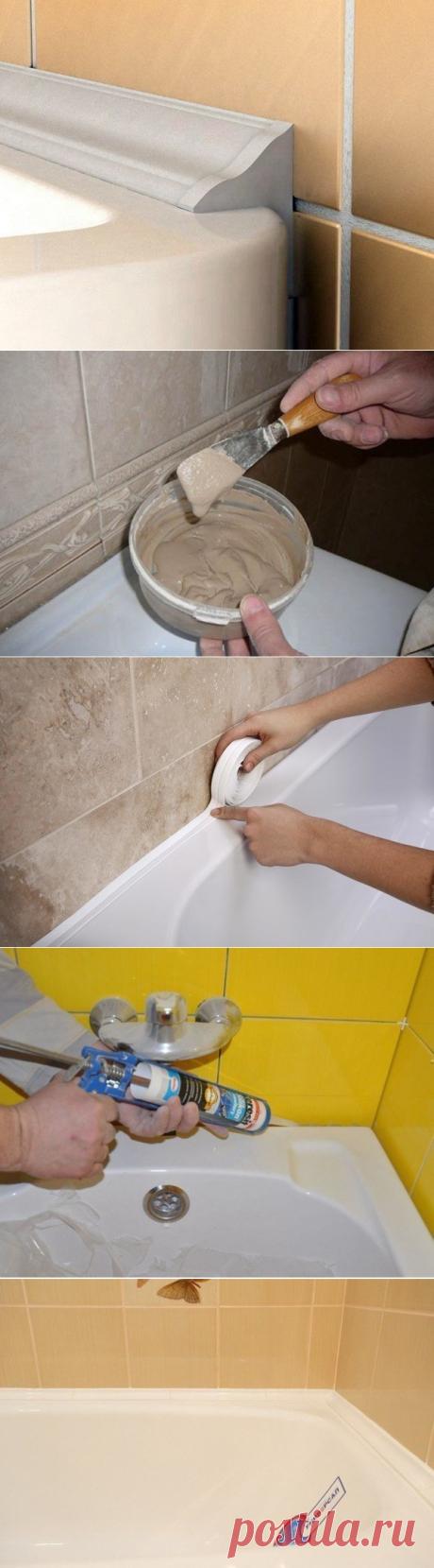 Заделываем щель в ванной комнате профессионально